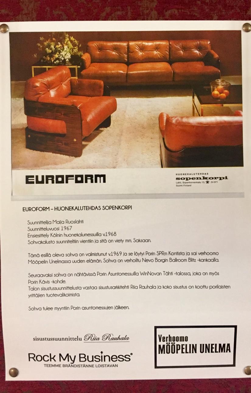Mööpelin Unelma euroform sohva original juliste
