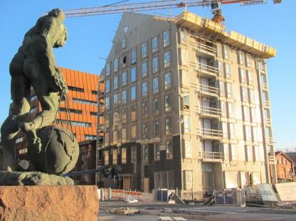 Punavuori Matti Hauptin Atlas ja talo rakenteilla